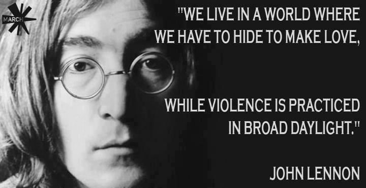 Quotes About Love John Lennon : Pax on both houses: John Lennon