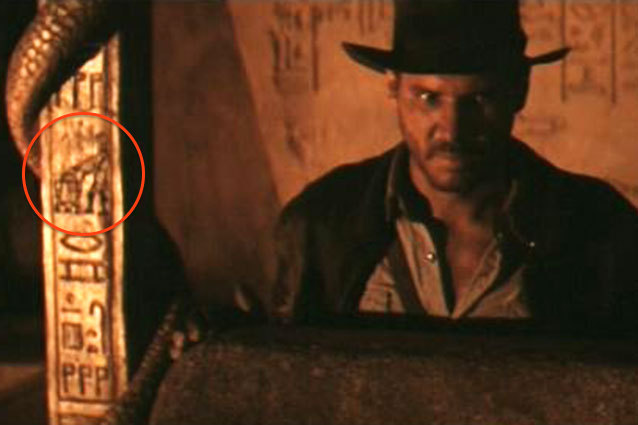 R2D2 and C3PO detail in Raiders of the Lost Ark.