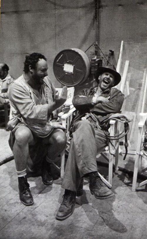 Sallah and Indiana Jones behind the scenes