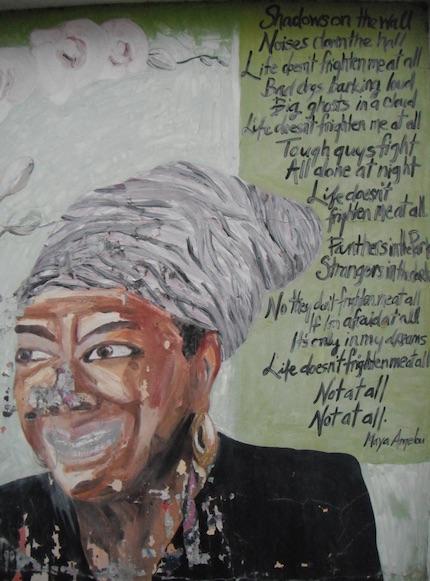 maya anglou mural