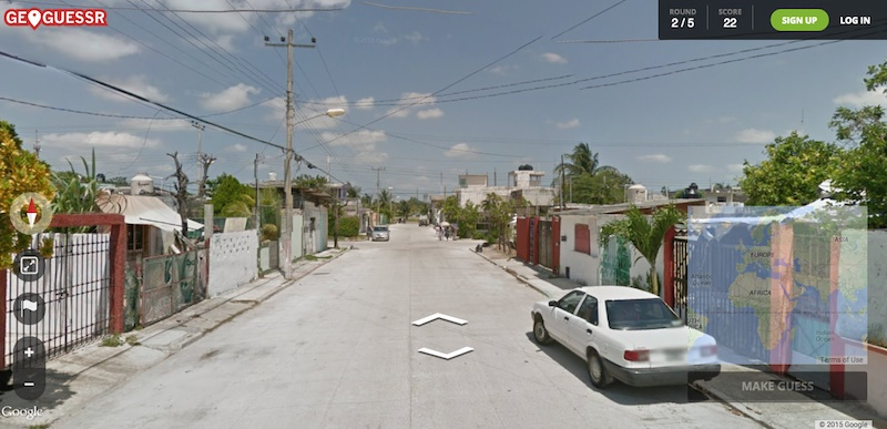 GeoGuessr, guess where in the world based on a streetview.