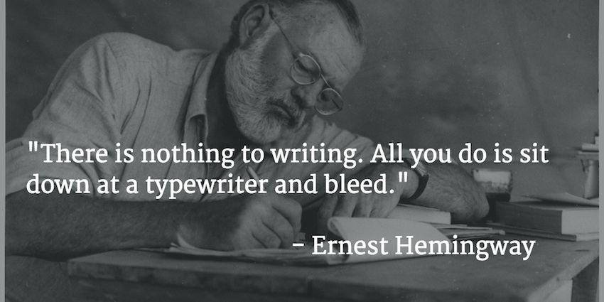 ernest hemingway quotes on writing