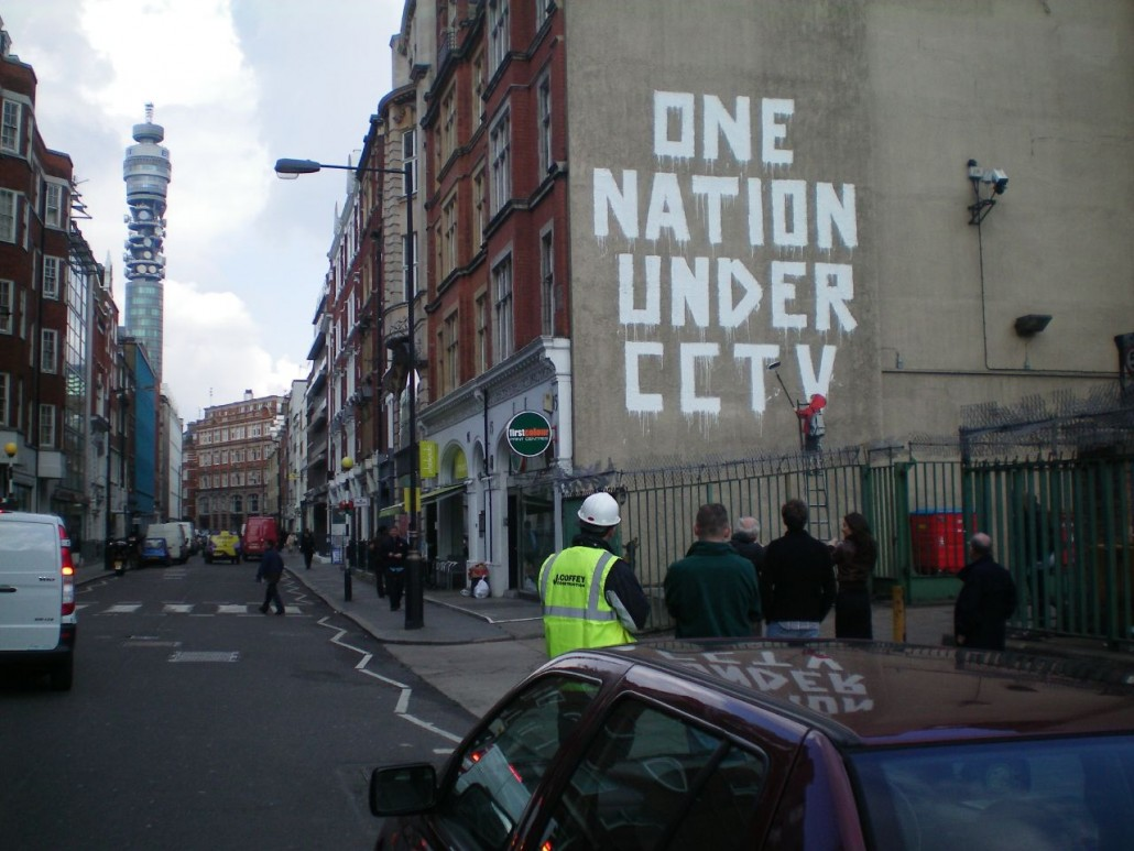 Banksy graffiti: One Nation Under CCTV