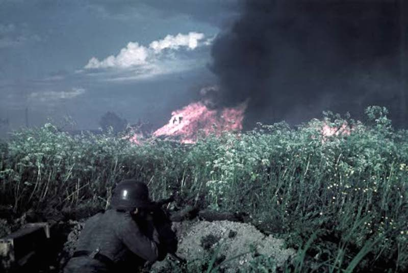 The fire of Poventsa and urban warfare. Poventsa. July 2, 1941.