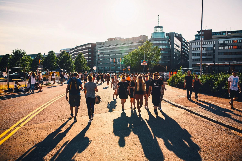 Flow Festival is totally walkable. Flow Festival