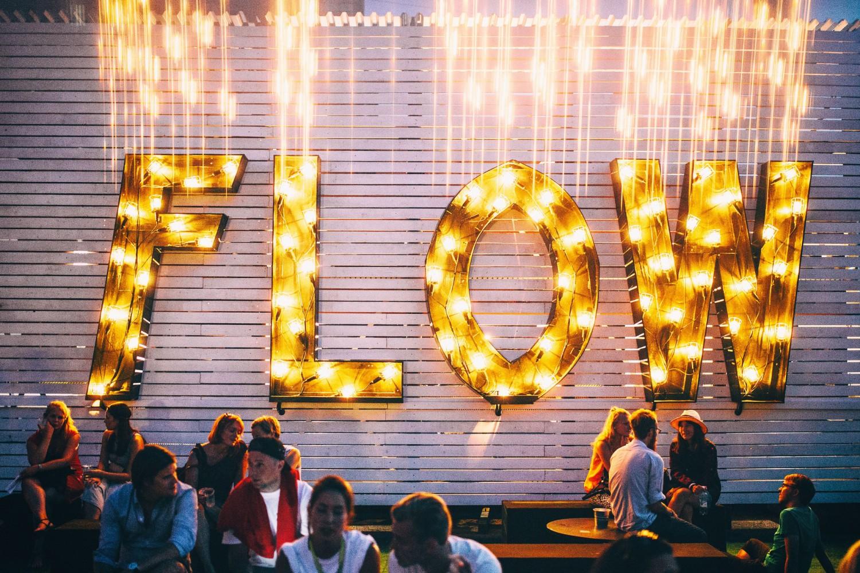 Flow Festival 2014, logo wall. Photo by Jussi Hellsten.