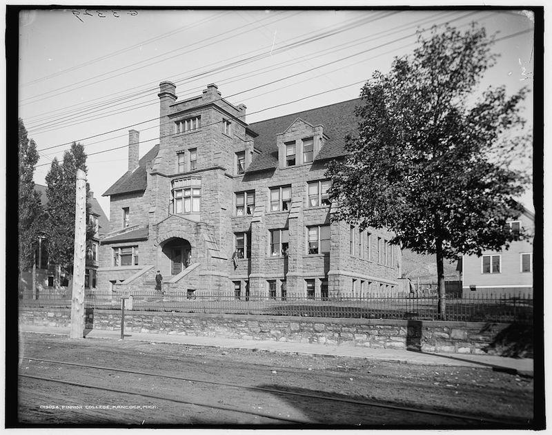 Finnish school in Hancock, Michigan c. 1900.