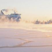 Helsinki ice smoke