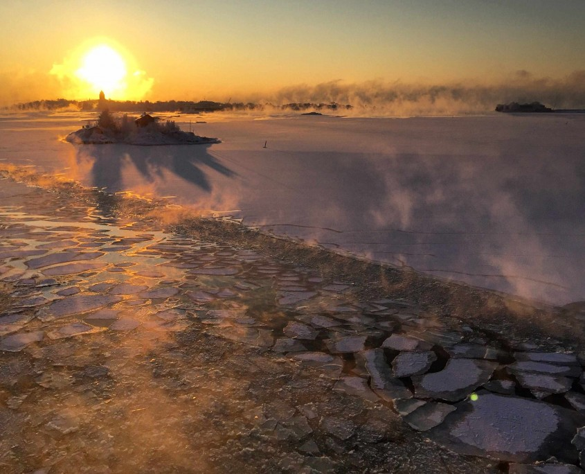 Helsinki sea ice