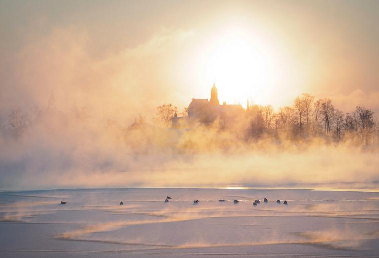 Helsinki sea smoke 2