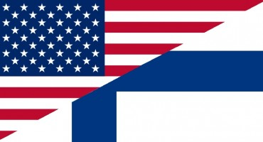 US and Finnish flags