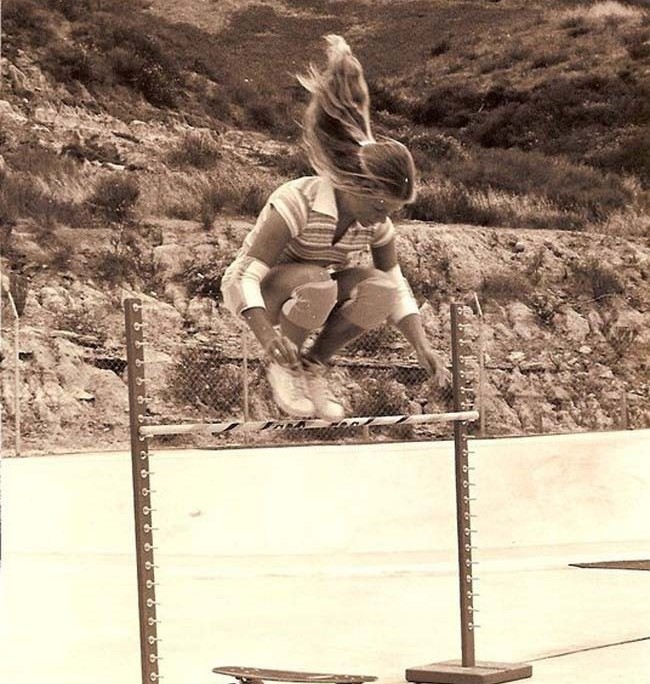 Ellen O'Neal, one of the first professional female skaters. [1976]