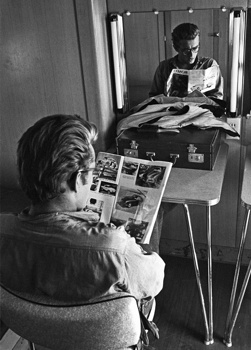 James Dean reading
