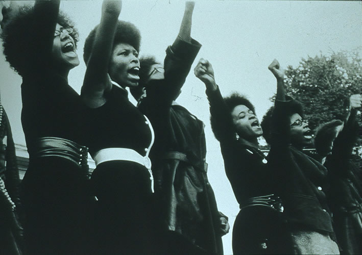 Women held positions of power within the Black Panther Party. ( 1960's)