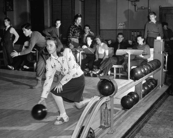 Bowling night, 1950's