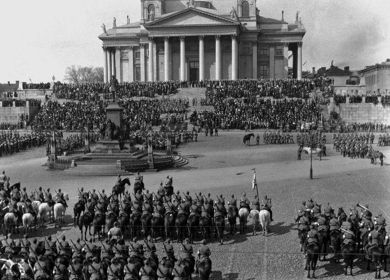 Celerating the Armed Forces Day, Senate Square, Helsinki. (1920)