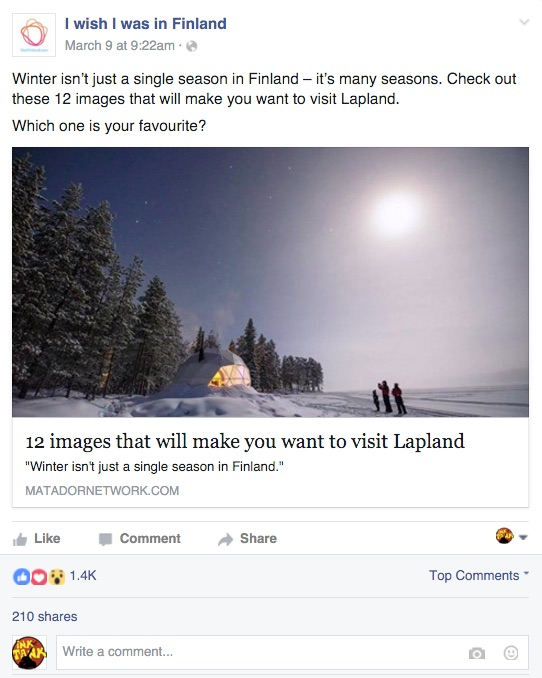 I wish i was in finland facebook