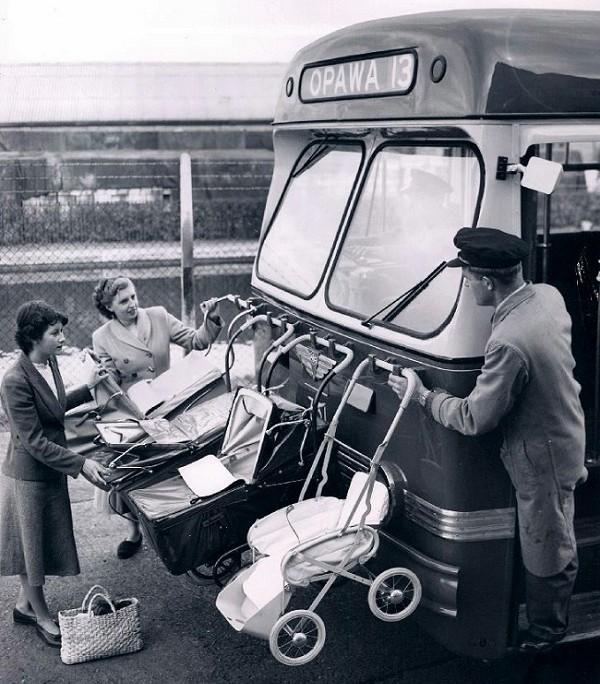 baby transport, New Zealand 1950s