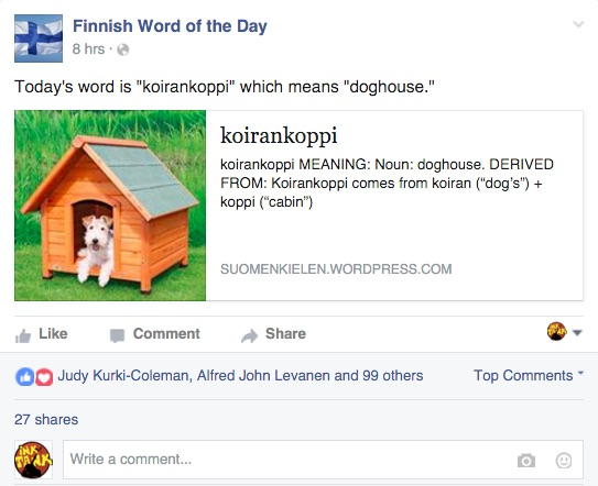 finnish word of the day facebook