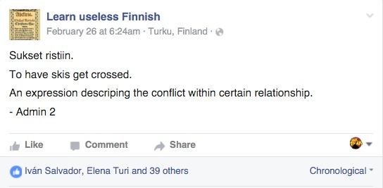 learn useless finnish facebook