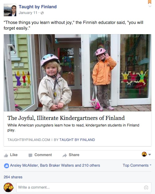 taught by finland facebook