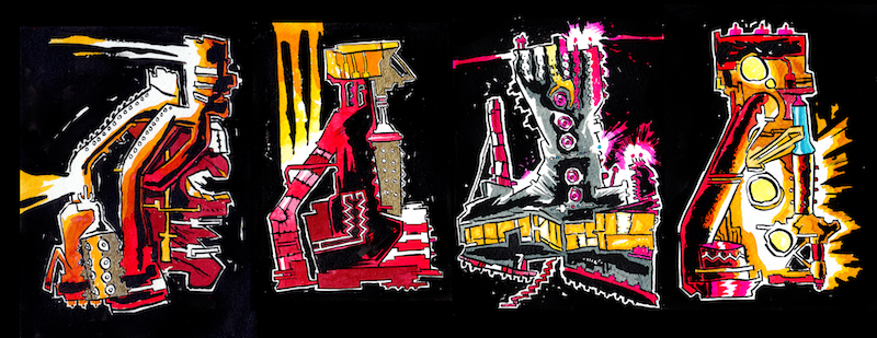 Red Hot Machines by artist James Iles