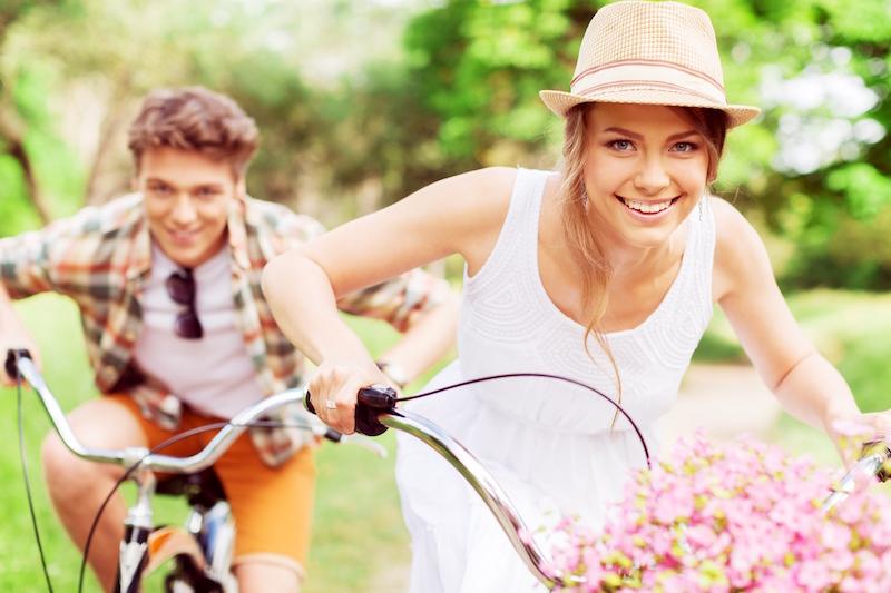 Green city biking