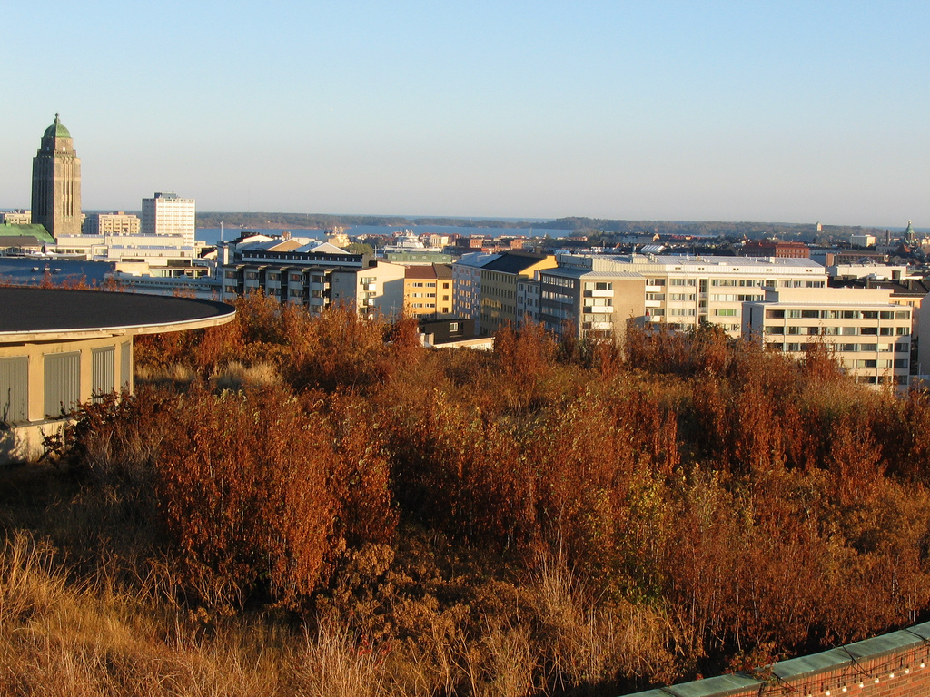 View of Kallio from Linnamäki Water Tower. Photo my megapolis.