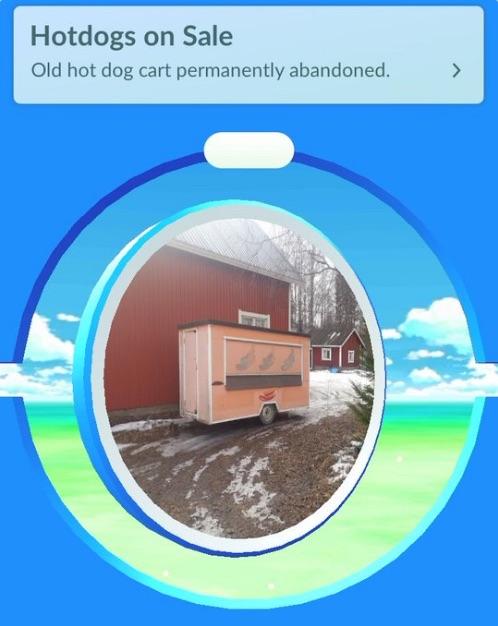 Finland PokeStop hotdog stand