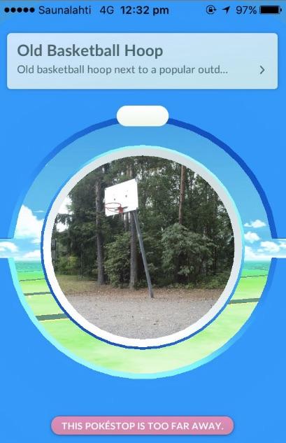 Finland PokeStop old basketball hoop