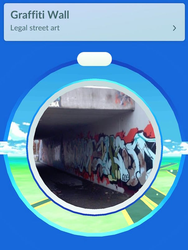 Finland Pokestop graffiti wall