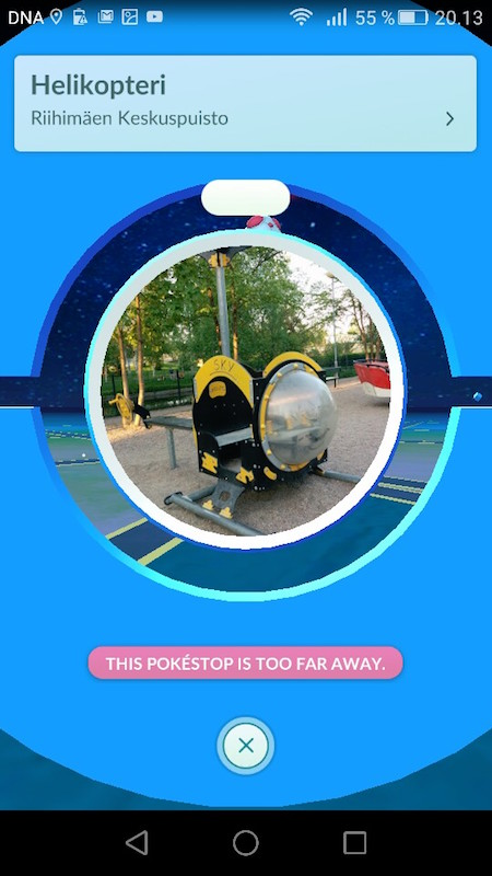 Finland pokestop helicopter