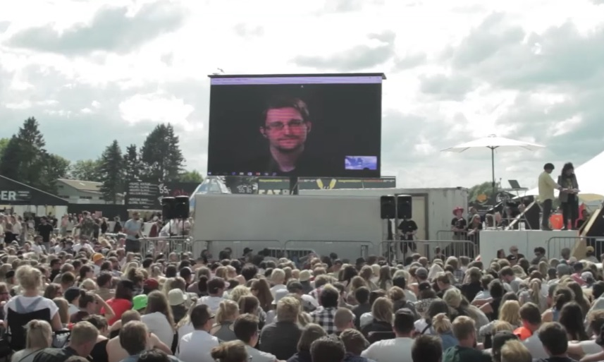 Edward Snowden and The Yes Men at Roskilde 2016