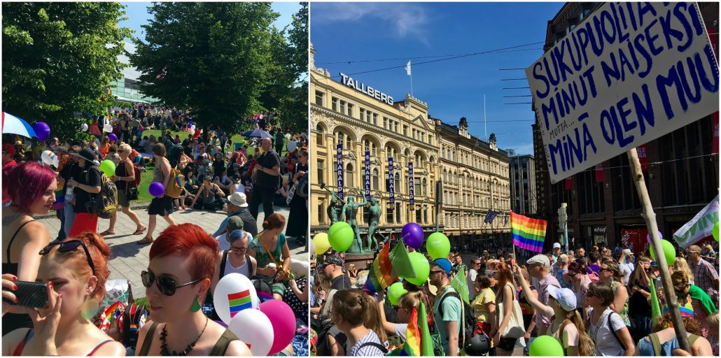 Shots from the Helsinki Pride 2016 parade and Park Fest at Kansalaistori.  Photos by Thomas Nybergh.