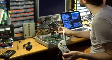 Screenshot from debuglive's Youtube documentary on Professor Abrasive's cracking of the Sega Saturn CD video game console's copy protection (DRM)