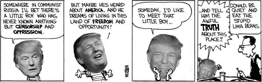 Donald and Hobbes Russia