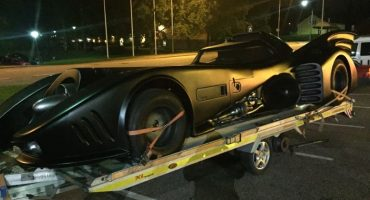 Warner Licensed Batmobile with Chevrolet V8 engine on a Chevy Impala chassis. As seen in the Tim Burton movies Batman & Batman Returns.