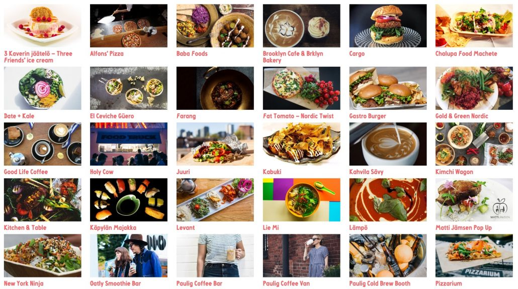 Some of the delicious food available at Flow Festival 2016