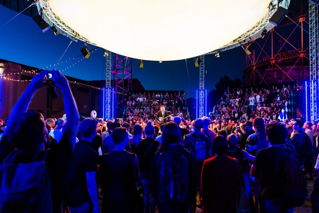 Balloon Stage at Flow Festival 2015. Photo By Niklas Sandström.