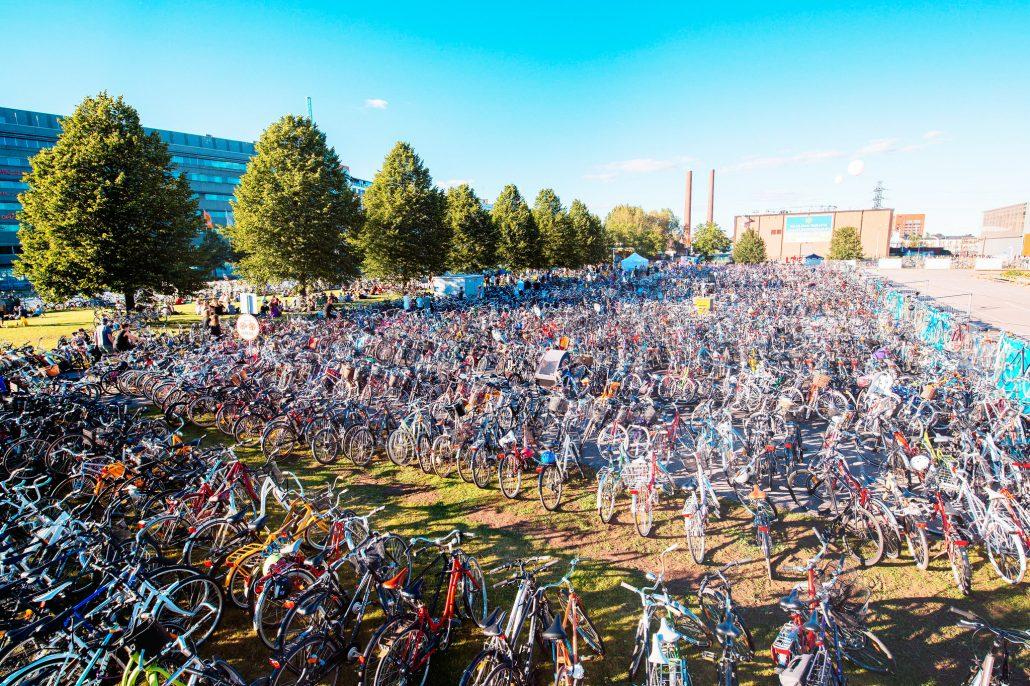 Flow Festival bike parking