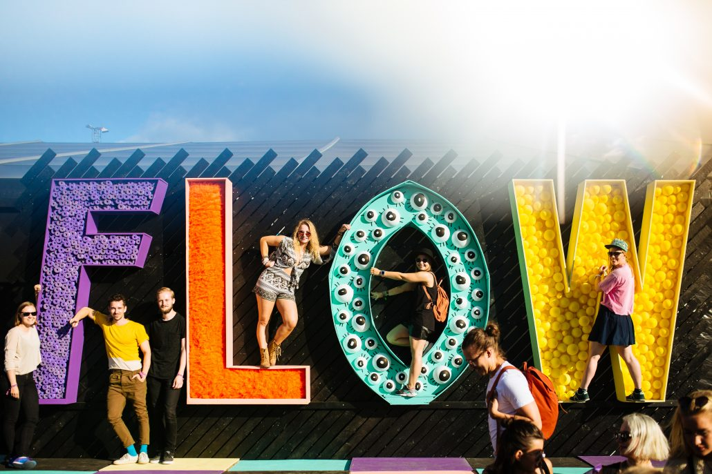 Flow Festival sign. Photo by Jussi Hellsten.