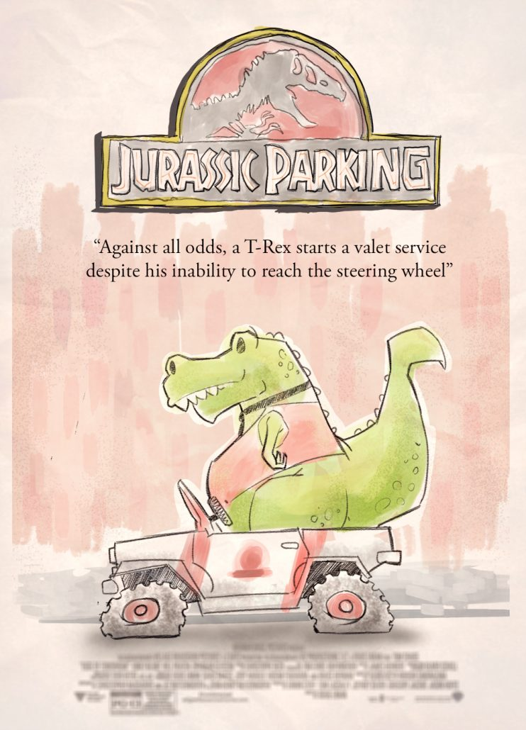 Jurassic Parking: against all odds, a T-Rex starts a valet service despite his inability to reach the steering wheel