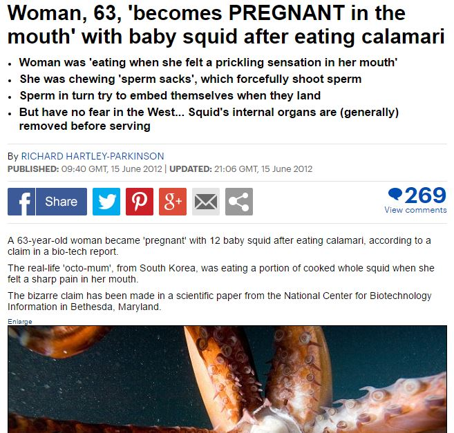 63 year old pregnant in the mouth. From the Daily Mail.
