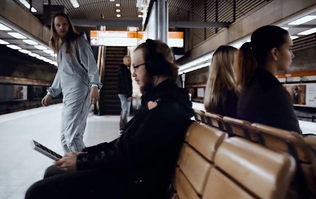 Battledragon's Youtube cover of Bomfunk MC's Freestyler 1999 hit. Location: Hakaniemi Metro station.