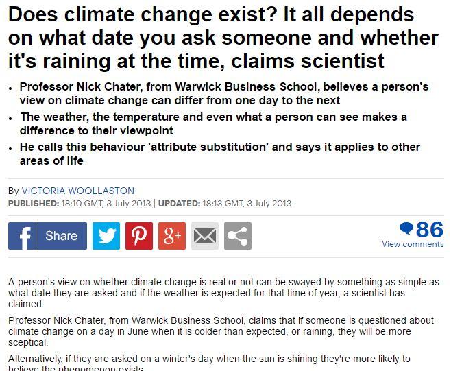 Business School Professor talks about climate science