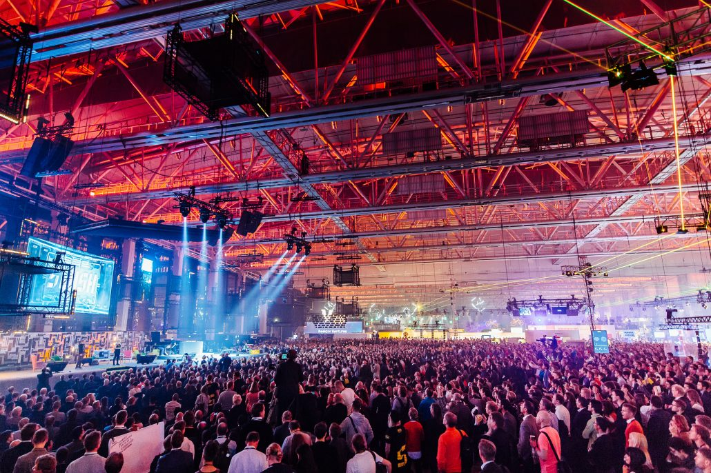 Stage and audience at Slush 2015