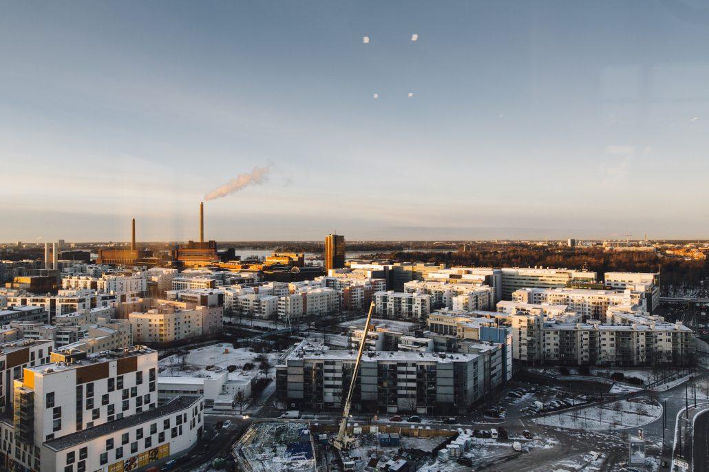 View from the Clarion Hotel Helsinki in Jätkäsaari during Slush Investor day 2016