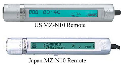 Sony Minidisc Walkman Remote controls. Source: minidisk.org.