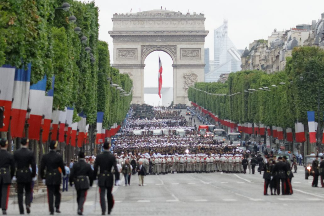 Bastille Day celebrations in Paris, 2014.