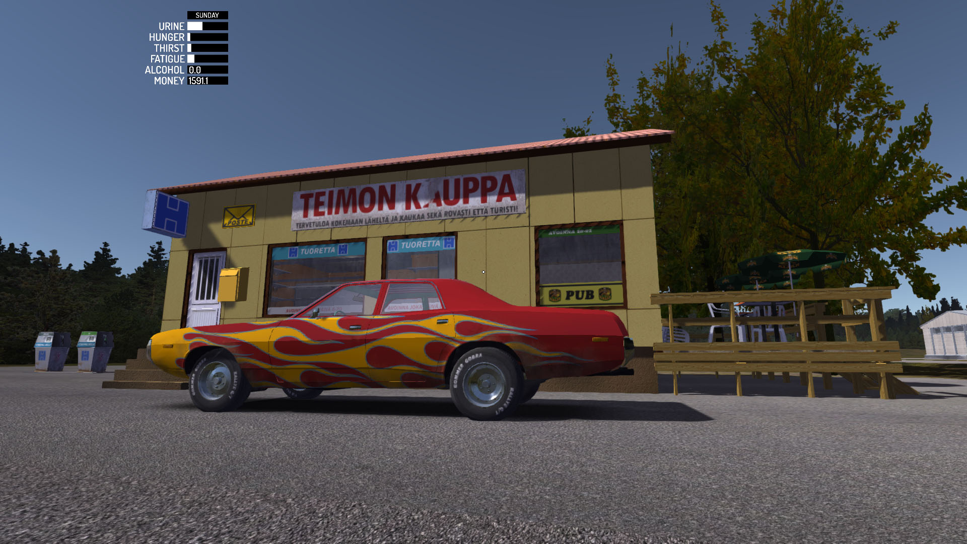 GTA Finland: If you get bored with your terrible old Datsun, you can always steal your neighbors muscle car.